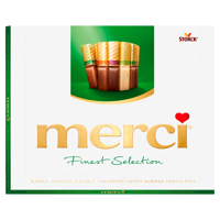 Merci Finest Selection Collection chocolates with almonds 250g
