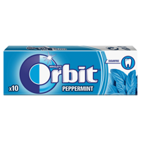 Orbit  Orbit Peppermint chewing gum free of sugar (14 g, 10 pellets)