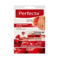 Perfecta SPA Home Pedicure treatment softening mask-serum and volcanic peeling feet 2 x 6ml