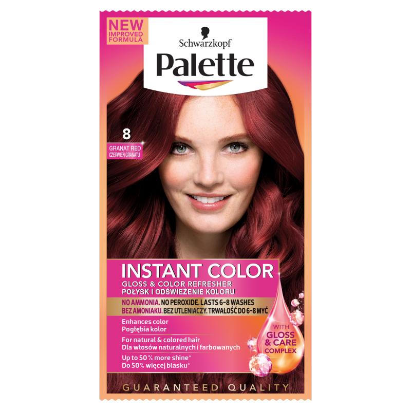 Palette Instant-Color Shampoo Färbung Red Granatapfel 8 25ml ...