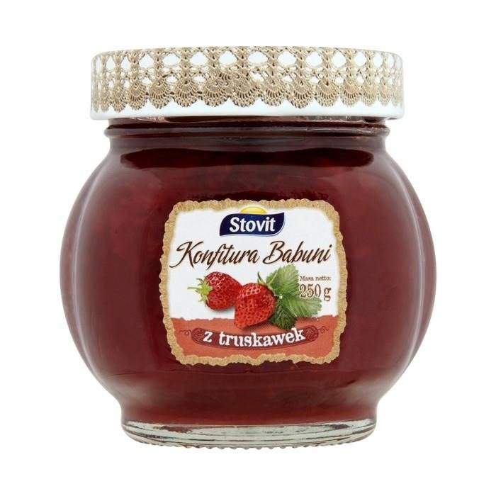 stovit omas marmelade mit erdbeeren 250g supermarkt online. Black Bedroom Furniture Sets. Home Design Ideas