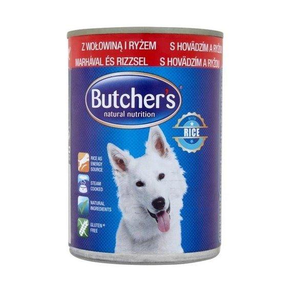butcher 39 s pastete mit rindfleisch und reis vollnahrung f r erwachsene hunde 390g supermarkt online. Black Bedroom Furniture Sets. Home Design Ideas