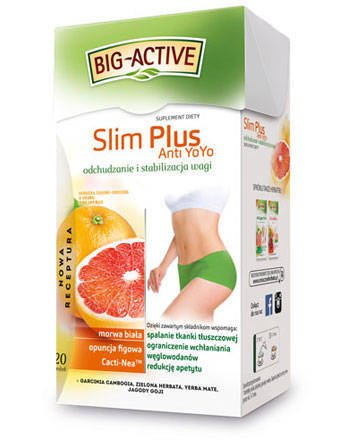 Big-Active Slim Plus Anti Yo Yo -20 torebek 40g